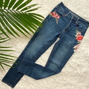AEO Floral Embroidered Jeans